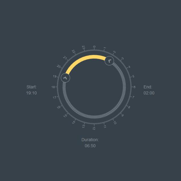 Time Range Wheel Slider